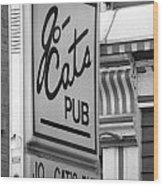 Jo Cats Pub Wood Print