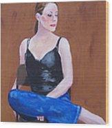 Jo In Chair Wood Print