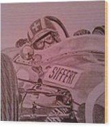 Jo Siffert And His Brabham Bt11 Wood Print