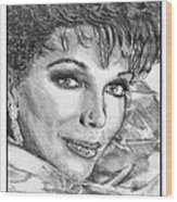 Joan Collins In 1985 Wood Print