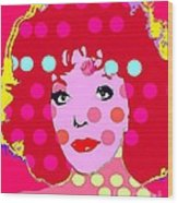 Joan Collins Wood Print by Ricky Sencion