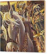 Joan D'arc Wood Print