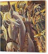 Joan D'arc Wood Print by Lynette Yencho