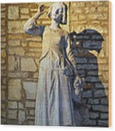 Joan Of Arc Hearing Voices By Francois Rude Wood Print