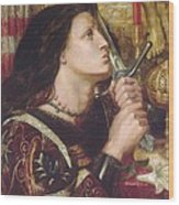 Joan Of Arc Kisses The Sword Of Liberation Wood Print