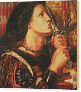Joan Of Arc Kissing The Sword Wood Print