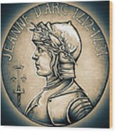 Joan Of Arc - Middle Ages Wood Print