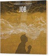 Job Books Of The Bible Series Old Testament Minimal Poster Art Number 18 Wood Print
