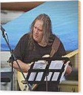 Jocelyn Godfrey Guitarist 2 Wood Print