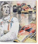 Jochen Rindt Golden Leaf Team Lotus Lotus 49b Lotus 49c Wood Print