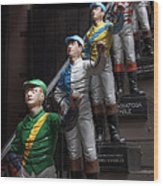 Jockeys Wood Print