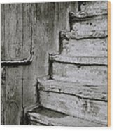 The Monochrome Steps Wood Print