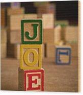 Joe - Alphabet Blocks Wood Print