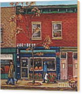 Joe Beef Restaurant Montreal Wood Print