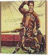 Joe Dimaggio Yankee Clipper Wood Print by Ray Tapajna