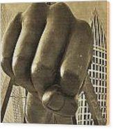 Joe Louis Fist In Detroit Wood Print