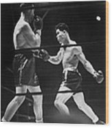 Joe Louis Right In Boxing Match Wood Print