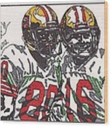 Joe Montana And Jerry Rice Wood Print by Jeremiah Colley
