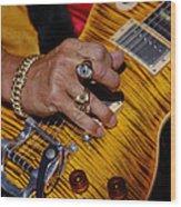 Joe Perry - Aerosmith Wood Print by Don Olea