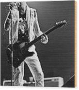 Joe Strummer At Clash Final Concert Wood Print