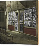 Joe's Barber Shop Wood Print