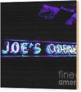 Joe's Corner Wood Print