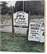 Joe's Place Farms Wood Print