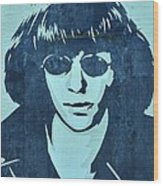 Joey Ramone Wood Print