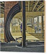 Jog Wood Print