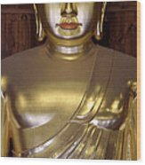 Jogyesa Buddha Wood Print by Jean Hall