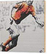 Johan Cruyff - Holland Wood Print