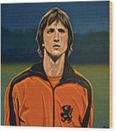 Johan Cruyff Oranje Wood Print