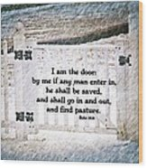 John 10 9 Wood Print