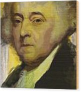 John Adams Wood Print by Corporate Art Task Force