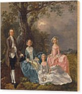 John And Ann Gravenor With Their Daughters Wood Print
