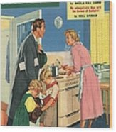 John Bull 1957 1950s Uk Cooking Wood Print by The Advertising Archives