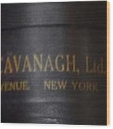 John Cavanagh Hatbox New York Wood Print