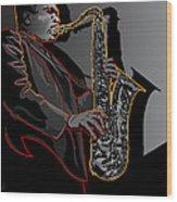 John Coltrane Jazz Saxophone Legend Wood Print