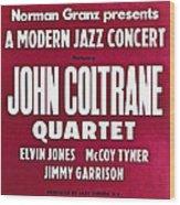 John Coltrane Quartet In Sweden Wood Print