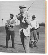 John D. Rockefeller Golfing Wood Print