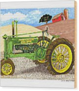 John Deere At Rest Wood Print