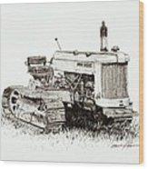 John Deere Crawler Wood Print