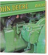 John Deere Diesel Wood Print by Susan Candelario