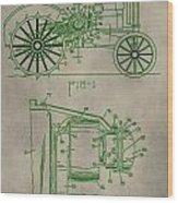 John Deere Patent Wood Print