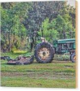 John Deere - Work Day Wood Print
