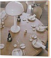 John Dickinson's Dining Table Wood Print