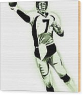 John Elway Wood Print by Don Medina