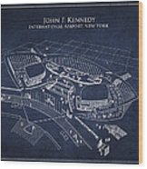 John F Kennedy International Airport Wood Print