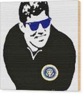 John F Kennedy Signature Wayfarer Wood Print