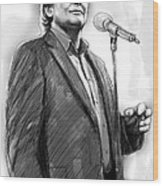 John Farnham Art Drawing Sketch Portrait Wood Print